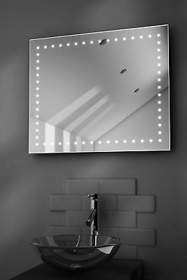 Empire Shaver LED Bathroom Illuminated Mirror With Demister Pad & Sensor k67s