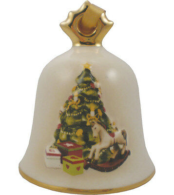 Goebel 2014 Christmas Bell Ornament NIB Tree with Presents 109306 NEW IN BOX