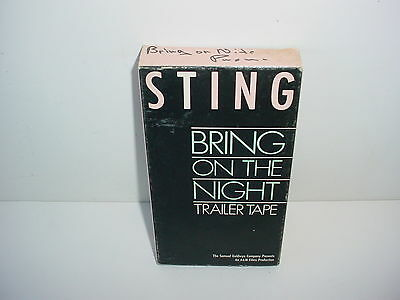 Sting Bring on the Night Promotional Use Only Trailer VHS Video Tape Music 1986