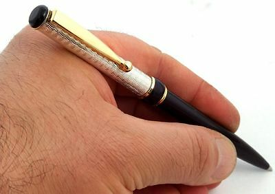 Thank You Gift Hyperion Solid Silver Pen Handmade Black Ink Refill Parker Type