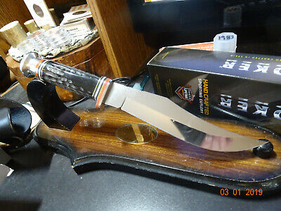"Case Xx 10 3/4"" Ca-17910 Buffalo Horn Handle Fixed Blade Knife Tru-Sharp Blade"