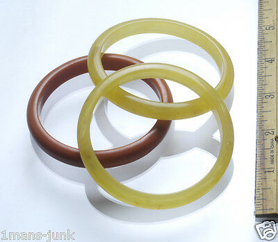 3 RARE Antique Chinese Sewing Basket bakelite? Bangle Betty Lous Collection 18