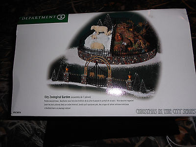 DEPT 56 CHRISTMAS IN THE CITY Accessory CITY ZOOLOGICAL GARDENS NIB