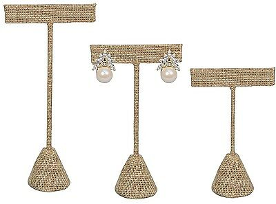 Modern Burlap Earring Display T Stand Display Showcase Jewelry Display  Deal