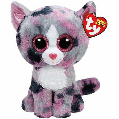 Lindi The Pink And Grey Cat  Ty Beanie Boos   Brand New Release