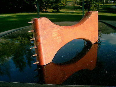 Antique Upholstery Webbing Stretcher Made Of Wood And Metal Teeth  8 Inches Long