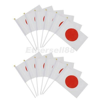 12pc Japan Hand Waving Flag on Sticks Papanese National Flags Fans Supporter