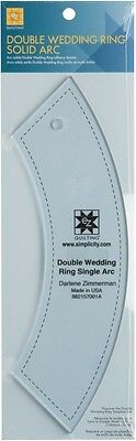 EZ Double Wedding Ring Single Arc Acrylic Quilting Template (882157001A)