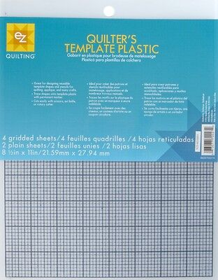EZ Plain & Gridded Plastic Quilting Templates Value Pack - per pack of 6 ...