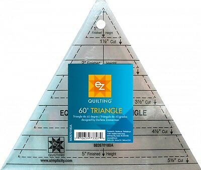 EZ 60 Degree Triangle Acrylic Quilting Template (882670180A)