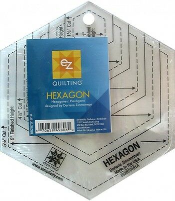 EZ Hexagon Shapes Acrylic Quilting Templates (882670181A)