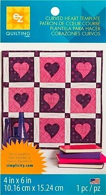 EZ Curved Heart Plastic Quilting Template (882614001)