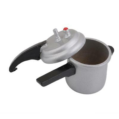 1/12 Scale Dolls House Miniature Kitchen Pressure Cooker w/ Removable Lid