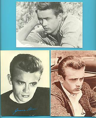 JAMES DEAN.14 POSTCARDS AND 1 GREETINGS CARD.ALL PUBLISHED 1980s