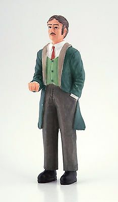 1/12Th Scale Dolls House Victorian Man In Green Coat Resin Figure