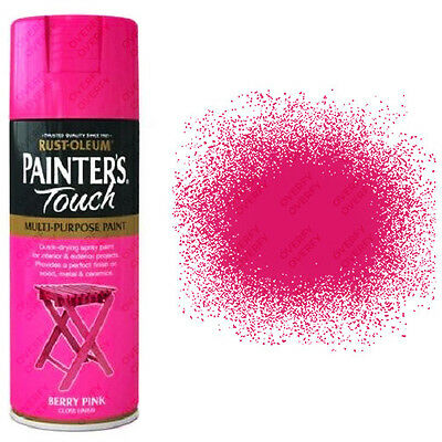 x1 Rust-Oleum Painters Touch Multi-Purpose Aerosol Spray Paint Berry Pink Gloss