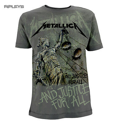 Official T Shirt METALLICA Metal Grey   JUSTICE AO Neon All Sizes