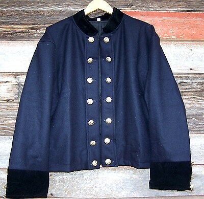 civil war union reenactor officers double breasted shell jacket 50