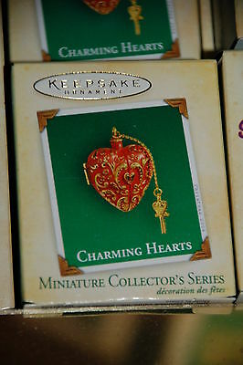Hallmark 2004 Charming Hearts Red series MINI Ornament