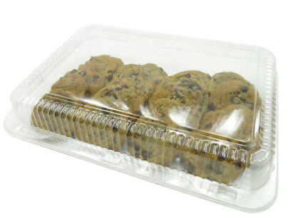 """Large  12"""" x 8"""" Plastic Hinged Bakery Container/ Reusable/Disposable #CPC77"""