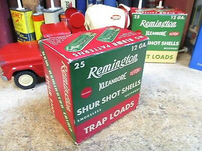 REMINGTON SHUR SHOT KLEANBORE empty 12 GA  TRAP SHOTGUN SHELLS shot shell  box