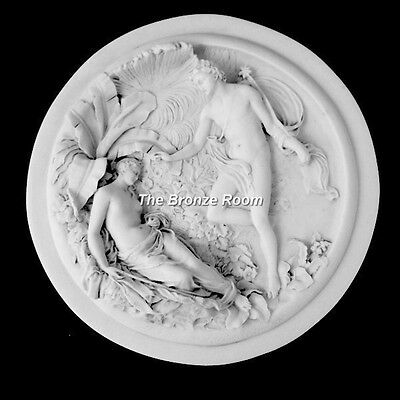 Marble Wall Plaque Depicting Oberon And Titania Fairy Fairies