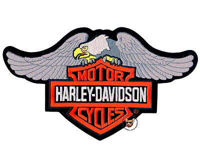Harley Davidson Classic Down Wing Eagle Bar And Shield Patch * Xl * Obsolete