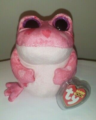 """Ty Beanie Boos ~ SMITTEN the 6"""" Pink Frog ~ MINT with MINT TAGS ~ RETIRED"""
