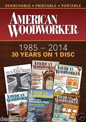 NEW! American Woodworker Magazine 1985-2014 [DVD]