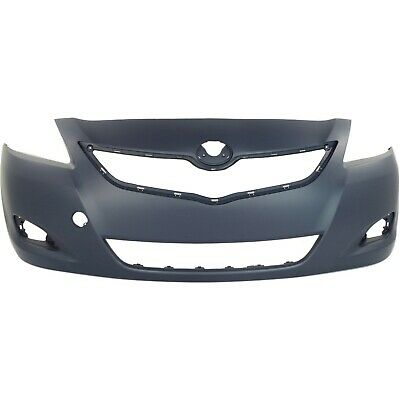 Front Bumper Cover For 2007-2012 Toyota Yaris Sedan w/ fog lamp holes Primed