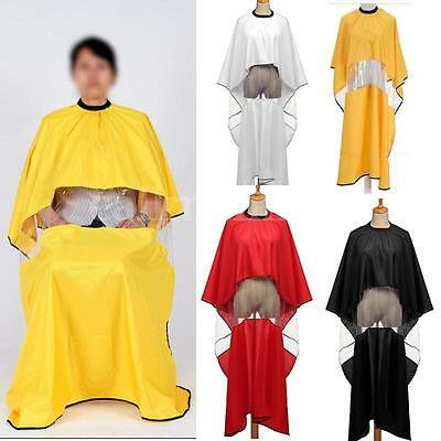 Salon Hairdresser Hair Gown Cape Barber Apron Cut Adult Cloth Viewing Window UK
