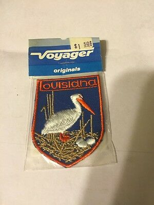 Vintage VOYAGER PATCH Louisiana State Souvenir Embroidered Patch