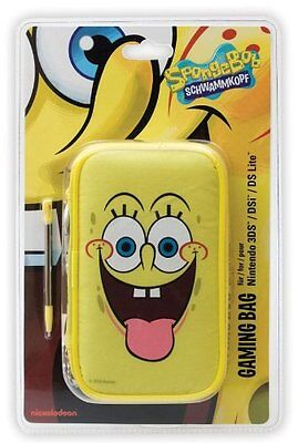 Nintendo 3DS DSi DS Lite * NEW Official SPONGEBOB SQUAREPANTS Case & Stylus Set
