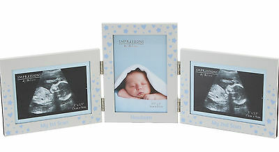BABY Blue Boy 1st & 2nd Scan Plus Frame For Newborn Photo Nursery Frame CG523B