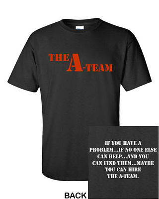 The A-Team T-Shirt CLASSIC Graphic Retro 80's Logo Funny Party TEE New! S-5XL