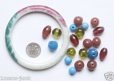 Antique Chinese Sewing Basket PEKING Glass BEADS Bangle Betty Lou Collection 09
