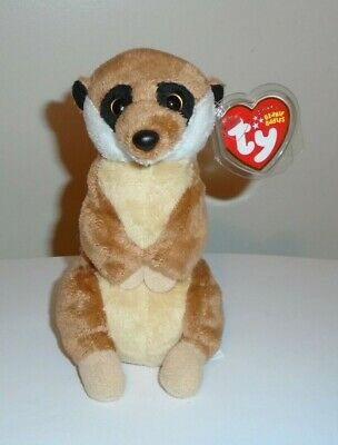 Ty Beanie Baby ~ BURROWS the Meerkat (6.5 Inch) MWMT