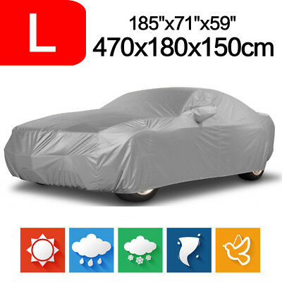 Car Cover Outdoor Waterproof Snow Sun Dust Proof Breathable Protection L Size