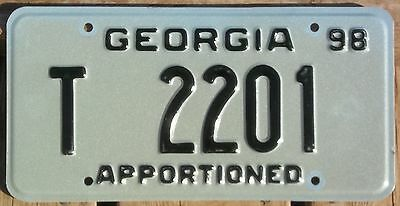 Georgia 1998 APPORTIONED TRAILER license plate!