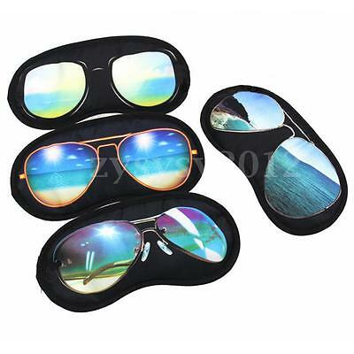 Travel 3D Sleep Eye Mask Sleeping Eyepatch Soft Cover Shade Plane Blindfold UK