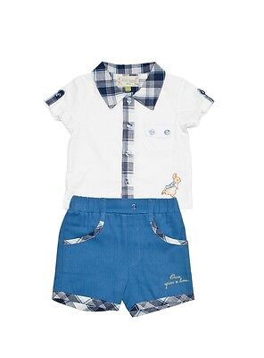 Beatrix Potter Clothes Boys Shorts and Shirt Baby Boy Gift 3-6 months NEW 17946