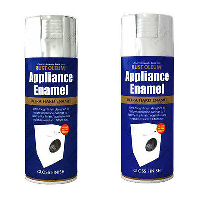 Rust-Oleum Appliance Enamel Aerosol Spray Paint White Gloss Stainless Steel