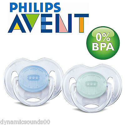 Philips AVENT SCF170/18 Orthodontic Pacifier Silicone Baby Soother 0-6m Blue