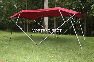 "NEW VORTEX 4 BOW PONTOON/DECK BOAT BIMINI TOP 6' long BURGUNDY 79-84"" wide"
