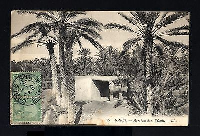 8335-TUNISIA-OLD POSTCARD GABES to TOULOUSE (france) 1907.French colonies.Tunis.