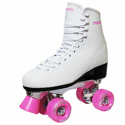 New Freesport Classic Quad roller skates kids Boot Pink Size 11 Child UK 30eu