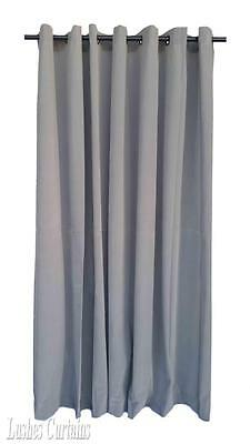 Gray 120 inch Long Velvet Curtain Panel w/Anneau Grommet Top Eyelets Window