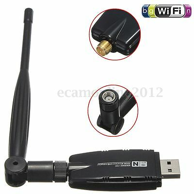 USB Mini WiFi 300Mbps 802.11n/g/b 5dBi Dongle LAN Clé Carte Adaptateur + Antenne