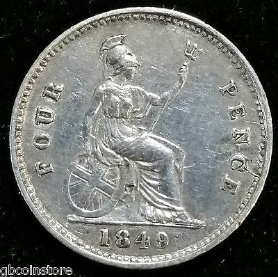 High Grade 1849 Victoria Silver Groat Good Detail Spink 3913