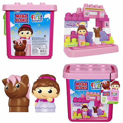 New Mega Bloks Pony Stable Building Blocks First Builders 1-5 Years